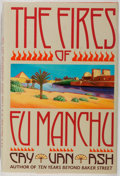 Books:Mystery & Detective Fiction, Cay Van Ash. The Fires of Fu Manchu. Harper & Row, 1987.First edition, first printing. Mild toning and rubbing to d...