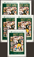 Football Collectibles:Photos, 1995 Brett Favre Signed MVP Posters Lot of 5 - Each Limited to50....