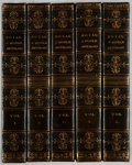 Books:Fine Bindings & Library Sets, [Fine Binding]. Horatio Walpole. A Catalogue of the Royal andNoble Authors of England, Scotland, and Ireland. Vol... (Total:5 Items)