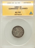 Liberty Nickels: , 1885 5C -- Cleaned, Corroded -- ANACS. AU50 Details. NGC Census:(7/233). PCGS Population (26/358). Mintage: 1,476,490. Num...