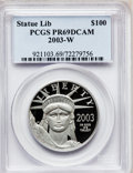 Modern Bullion Coins, 2003-W P$100 One-Ounce Platinum Eagle PR69 Deep Cameo PCGS. PCGSPopulation (933/93). NGC Census: (500/279). Numismedia Ws...