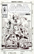 Original Comic Art:Covers, Whilce Portacio and Ron Randall The Punisher #20 CoverOriginal Art (Marvel, 1989)....