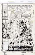 Original Comic Art:Covers, Jim Valentino and Art Thibert Guardians of the Galaxy #12 Cover Original Art (Marvel, 1991)....