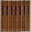 Books:Fine Bindings & Library Sets, [Fine Binding]. Frances Burney. Diary and Letters of Madame d'Arblay. Colburn, 1854. Later edition. Complete in ... (Total: 6 Items)