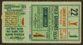 Baseball Collectibles:Tickets, 1924 World Series Game 4 Ticket Stub Polo Grounds....
