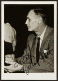 Basketball Collectibles:Photos, Joe Lapchick Signed Photo Original Celtics Member....