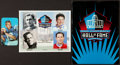 Football Collectibles:Photos, 1970 Johnny Unitas Signed Topps Super Card and 2005 Hall of Fame Photograph....