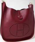 Luxury Accessories:Bags, Heritage Vintage: Hermes Rouge H Epsom Leather Evelyn MessengerBag. ...