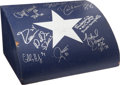 Football Collectibles:Others, Dallas Cowboys Themed Wooden Signed Cash Register....