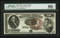 Large Size:Legal Tender Notes, Fr. 161 $50 1880 Legal Tender PMG Gem Uncirculated 66 EPQ.. ...