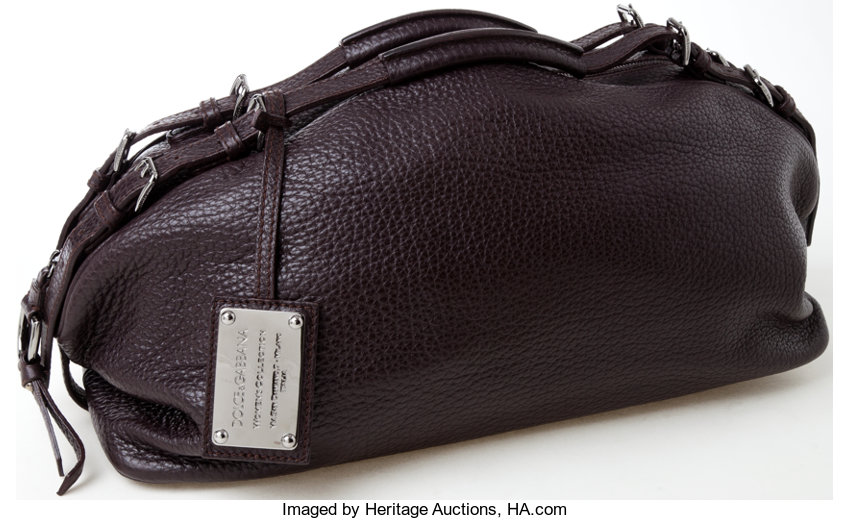 f5bda0aea14f Heritage Vintage  Dolce and Gabbana Brown Leather Bag. ... Luxury ...