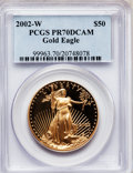 Modern Bullion Coins, 2002-W G$50 One-Ounce Gold Eagle PR70 Deep Cameo PCGS. PCGSPopulation (160). NGC Census: (613). Numismedia Wsl. Price for...