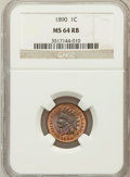 Indian Cents: , 1890 1C MS64 Red and Brown NGC. NGC Census: (365/152). PCGSPopulation (191/25). Mintage: 57,182,856. Numismedia Wsl. Price...