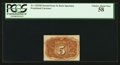 Fractional Currency:Second Issue, Fr. 1232SP 5¢ Second Issue Narrow Margin Back PCGS Choice About New 58.. ...