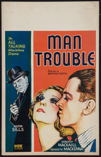 "Man Trouble (Fox, 1930). Window Card (14"" X 22""). Romance"