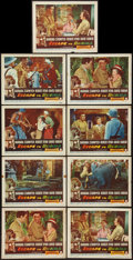 "Movie Posters:Adventure, Escape to Burma (RKO, 1955). Lobby Cards (9) (11"" X 14"").Adventure.. ... (Total: 9 Items)"