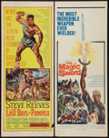 "Movie Posters:Adventure, The Last Days of Pompeii and Other Lot (United Artists, 1960).Inserts (2) (14"" X 36""). Adventure.. ... (Total: 2 Items)"