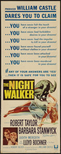 "Movie Posters:Horror, The Night Walker (Universal, 1964). Insert (14"" X 36""). Horror.. ..."