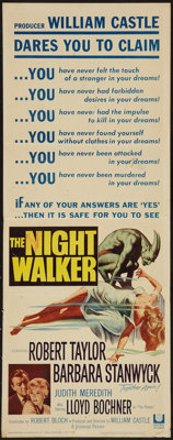"The Night Walker (Universal, 1964). Insert (14"" X 36""). Horror"