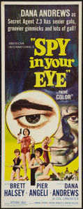 "Movie Posters:Adventure, Spy in Your Eye (American International, 1966). Insert (14"" X 36"").Adventure.. ..."