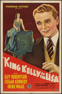 """King Kelly of the U.S.A. (Monogram, 1934). One Sheet (27"""" X 41""""). Musical"""