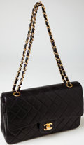 Luxury Accessories:Bags, Heritage Vintage: Chanel Black Lambskin Leather Classic Double FlapBag with Gold Hardware. ...