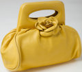 Luxury Accessories:Bags, Heritage Vintage: Chanel Yellow Lambskin Leather Small FlowerEvening Bag. ...