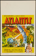 "Movie Posters:Adventure, Atlantis, the Lost Continent (MGM, 1961). Window Card (14"" X 22"").Adventure.. ..."