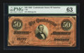 Confederate Notes:1864 Issues, T66 $50 1864 PF-8, Cr. 499.. ...