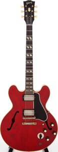 Musical Instruments:Electric Guitars, 1960 Gibson ES-345 Cherry Semi-Hollow Body Electric Guitar, Serial# A35110....