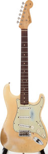 Musical Instruments:Electric Guitars, 1959 Fender Stratocaster Blonde Solid Body Electric Guitar, Serial# 51540....