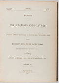 Books:Americana & American History, US Senate. Reports of Explorations and Surveys,...from theMississippi River to the Pacific Ocean. 1854-5. Vol. VI...