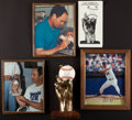Baseball Collectibles:Others, Nolan Ryan Life Size Hand Sculpture With Signed Baseball. ...