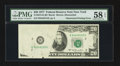 Error Notes:Obstruction Errors, Fr. 2072-B $20 1977 Federal Reserve Note. PMG Choice About Unc 58 EPQ.. ...