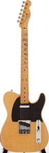 Musical Instruments:Electric Guitars, 1952 Fender Telecaster Butterscotch Blonde Solid Body ElectricGuitar, Serial # 4938...