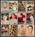 Baseball Cards:Sets, 1957 Topps Baseball Partial Set (208) With HoFers, Rookies and 35 Scarce Series!...