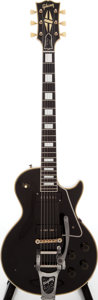 Musical Instruments:Electric Guitars, 1955 Gibson Les Paul Custom Black Solid Body Electric Guitar,Serial # 5 10006....