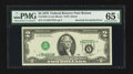 Error Notes:Inverted Third Printings, Fr. 1935-A $2 1976 Federal Reserve Note. PMG Gem Uncirculated 65EPQ.. ...