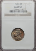 Jefferson Nickels, 1946-D 5C MS65 5 Full Steps NGC. NGC Census: (44/67). PCGSPopulation (375/294). Numismedia Wsl. Price for problem free NG...