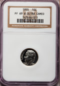 Proof Roosevelt Dimes, 1955 10C PR69 W Ultra Cameo NGC....