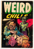 Golden Age (1938-1955):Horror, Weird Chills #1 (Key Publications, 1954) Condition: GD+....