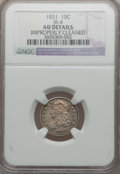 Bust Dimes: , 1831 10C -- Improperly Cleaned -- NGC Details. AU. JR-4. NGC Census: (7/242). PCGS Population (28/208). Mintage: 771,350. ...