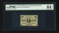 Fractional Currency:Third Issue, Fr. 1227 3¢ Third Issue PMG Choice Uncirculated 64 EPQ.. ...