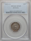 Seated Dimes: , 1853-O 10C Arrows XF45 PCGS. PCGS Population (5/28). NGC Census:(1/22). Mintage: 1,100,000. Numismedia Wsl. Price for prob...