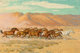 ROBERT E. LOUGHEED (American, 1910-1982) Hoof Beats in the Desert Oil on panel 20 x 30 inches (50.8 x 76.2 cm) Signe...