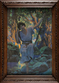 """Books:Prints & Leaves, Maxfield Parrish. """"DreamLight"""". [n.p., n.d., ca. late 1920's].Chromolithograph reproduction of Parrish's original paint..."""