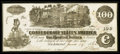 Confederate Notes:1862 Issues, T39 $100 1862 PF-5 Cr-290.. ...