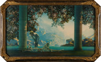 """Maxfield Parrish. """"Daybreak"""". [New York: The House of Art, n.d., ca. 1920's]. Chromolithograph reproducti"""