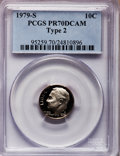 Proof Roosevelt Dimes: , 1979-S 10C Type Two PR70 Deep Cameo PCGS. PCGS Population (235).NGC Census: (0). Numismedia Wsl. Price for problem free N...