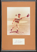 Baseball Collectibles:Others, Gil Hodges Signed Cut Display. ...